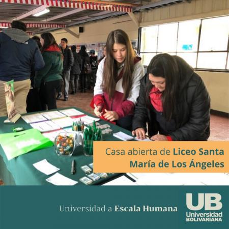 Casa abierta de Liceo Santa María de Los Ángeles