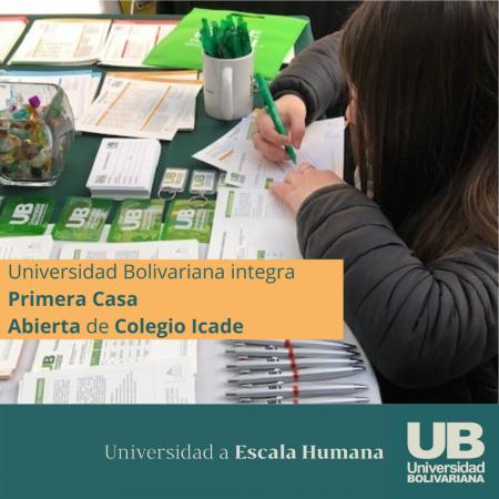Universidad Bolivariana integra Primera Casa Abierta de Colegio Icade